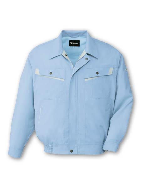 DESK82000 エコ製品制電長袖ストレッチブルゾン[社名刺繍無料] 025/ライトブルー