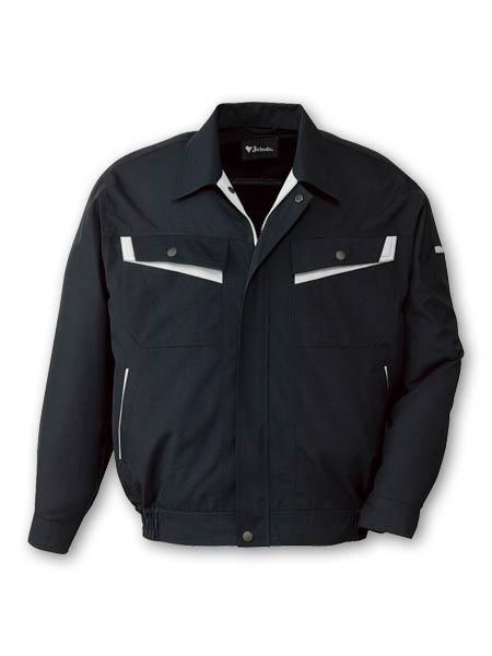 DESK82000 エコ製品制電長袖ストレッチブルゾン[社名刺繍無料] 131/シックブラック