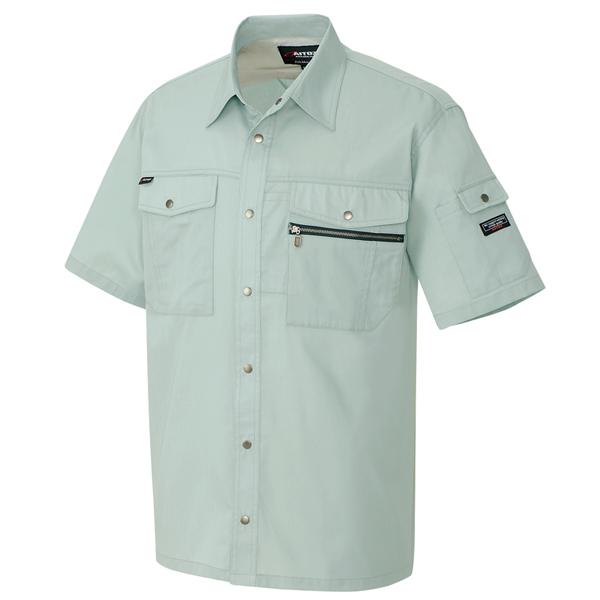 AZ-3237 半袖シャツ[社名刺繍無料] 005/アースグリーン