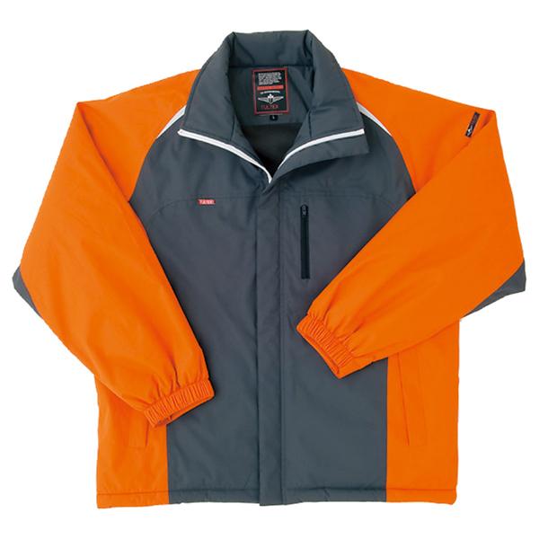 AZ8471 TULTEX(タルテックス)防寒ショートコート 063/オレンジ×チャコール